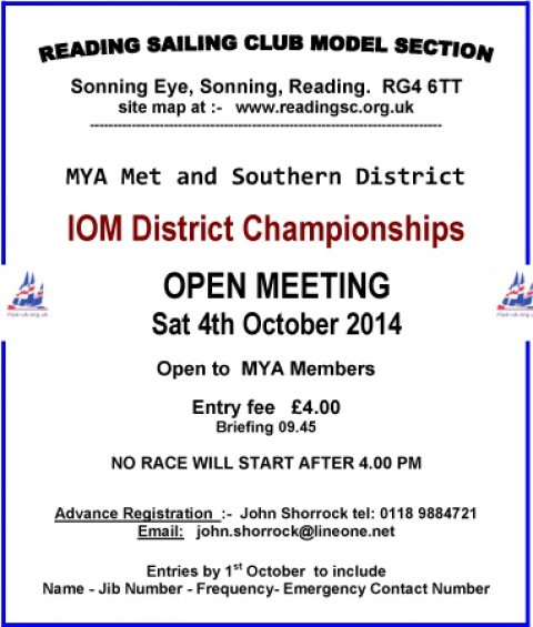 IOM Open Meeting @ Reading- 4th Oct