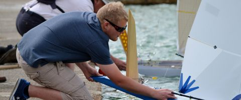 Vane A National Championship, first day, Sunday 31st July 2016, at Gosport Model Yacht and Boat Club.