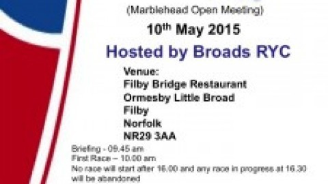 Broadlands Trophy for Marblehead @ Broads RYC