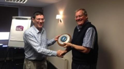 Richard Rowan collects his Syan Award