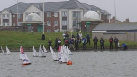 1st DRAGONFORCE OPEN RACE AT FLEETWOOD ATTRACTS  BOATS FROM ENGLAND & WALES!