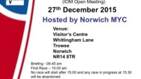 Yare Cup@ Norwich MYC – 27th December