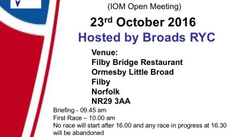 Norfolk Trophy, EDCS6 and IOM Open Meeting 23rd October 2016