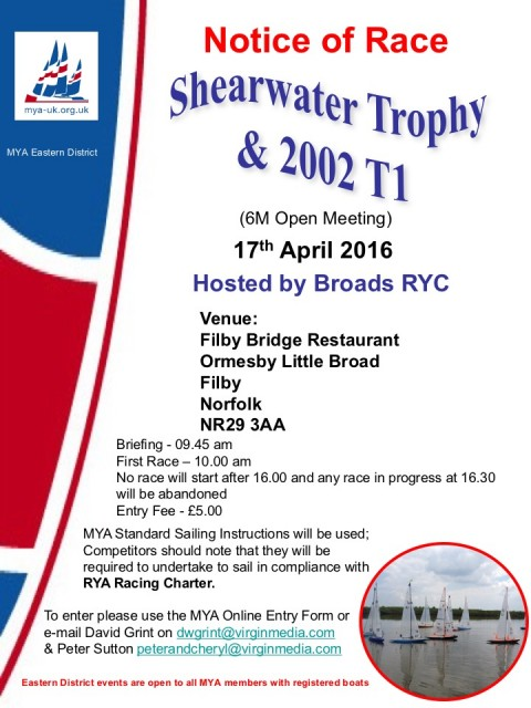 Shearwater Trophy 6M Open Meeting – 17th April