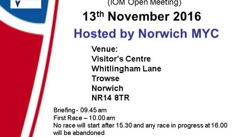 Yare Cup – Norwich – 13th November – Last Call for Entries