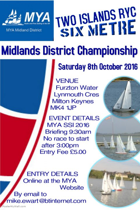 R6M Midland District Championship – Saturday 8th Oct – Two Island RYC