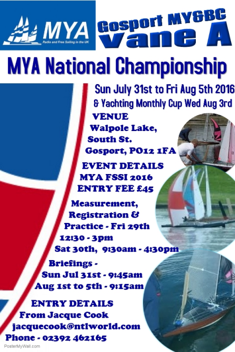 2016 MYA Vane A National Championship and Yachting Monthly Cup – Entry Open