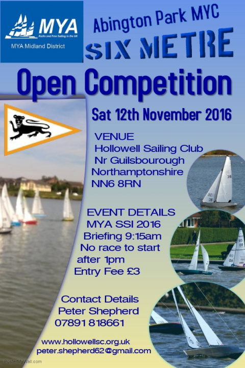 Six Metre Open – Hollowell Sailing Club – Sat 12th November