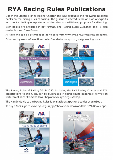 Racing Rules of Sailing 2017-20 – Guidance booklets