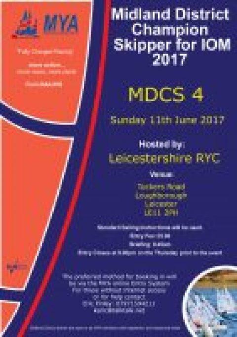 Midland District Champion Skipper IOM 2017