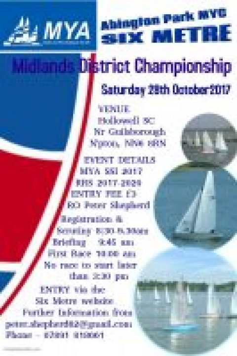 MD 6M District Championship – Notice of Race