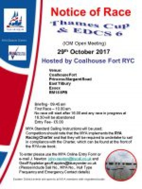 Notice of Race – EDCS 6 IOM Thames Cup