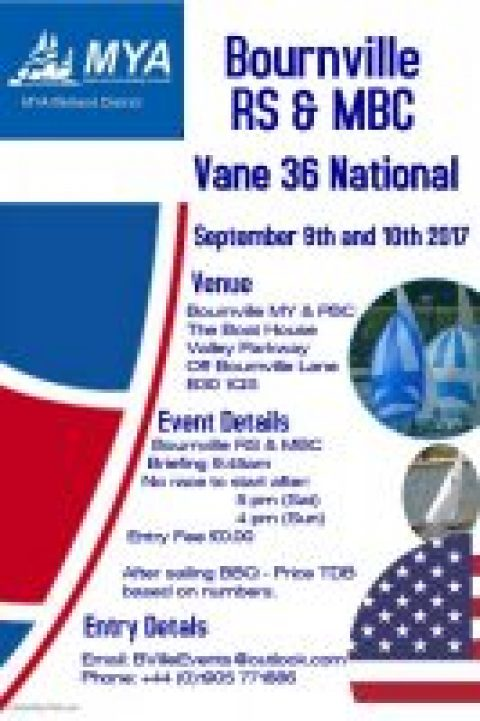 Vane 36 National – Bournville 9-10 September 2017
