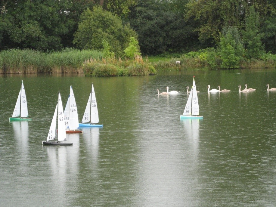 On-the-water Spectators Accompany the Yachts