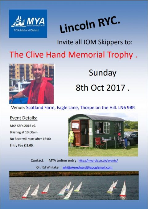 Notice of Race – MD Clive Hand Memorial IOM 2017