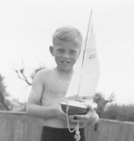 Malcolm Appleton with first boat